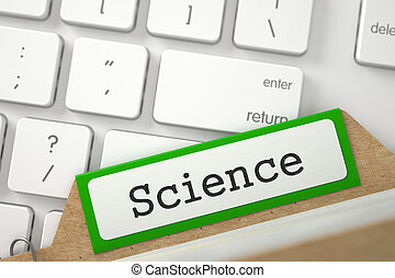 File Card with Inscription Science. 3D. - Science written on...