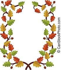 Autumn leaves frame design