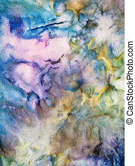 abstract colored silk nodular batik - textile background -...