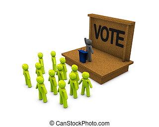 Campaign - 3d image, conceptual political campaign