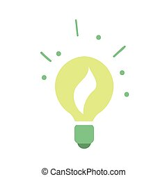Ecological light bulb icon