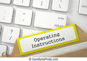 Card Index with Operating Instructions. 3D. - Yellow Card...
