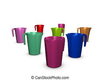 Jug - 3d image, Conceptual jug, random position