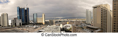 Las Vegas Strip from viewed a hotel - The eastern part of...
