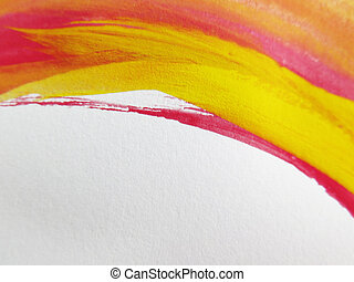 Abstract watercolor painted background - Colorful Abstract...