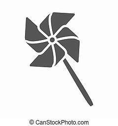 Toy windmill black icon. Illustration for web and mobile...