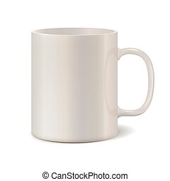 Light pearl ceramic mug for printing corporate logo 3D...