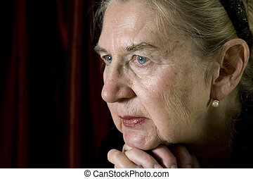 Senior woman - Portrait of a senior woman in deep thoughts...