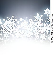 Winter blue background with snowflakes. - Winter blue...