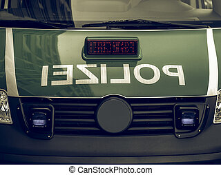 Vintage looking German police car - Vintage looking Typical...