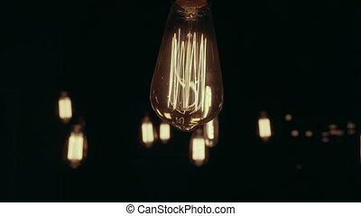 Group of Vintage Bulb Lights. - Group of vintage bulb...