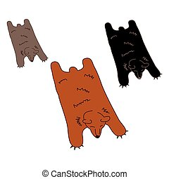Faux Bear Skin Rug in Three Natural Colors
