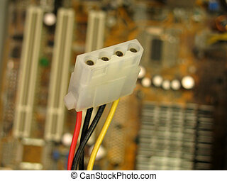 power cable - peripheral power cable over motherboard...