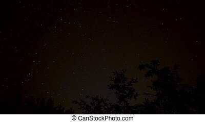 night starfield timelapse - fast moving night starfield...