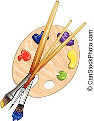 Brushes and Palette