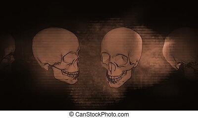 Dark Skulls across grunge horror