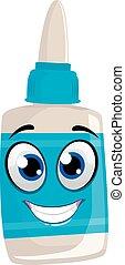 Glue Mascot - Vector Illustration of Glue Mascot