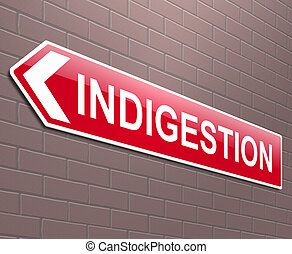 indigestión, señal, concepto