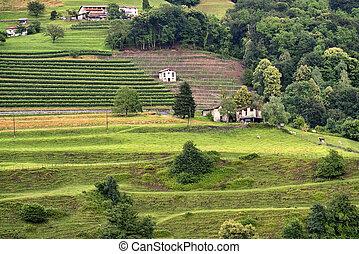 Landscape near Arogno Ticino, Switzerland - Landscape along...