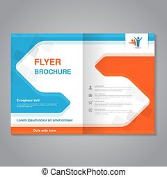 Vector modern brochure, abstract flyer with simple squared...