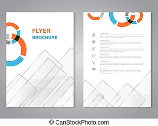 Vector modern brochure, abstract flyer with simple glass...