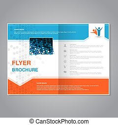Vector modern brochure, abstract flyer with simple modern...