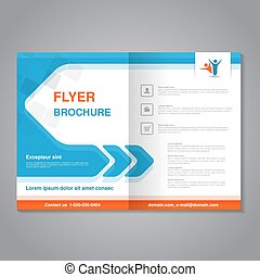 Vector modern brochure, abstract flyer with simple square...