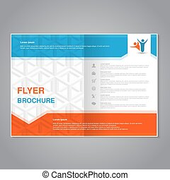 Vector modern brochure, abstract flyer with simple cube...