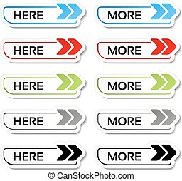 Vector here, more buttons with arrows - labels, stickers on...