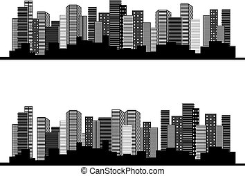 Vector of urban cityscape, symbol of business buildings,...