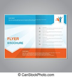 Vector modern brochure, abstract flyer with simple striped...