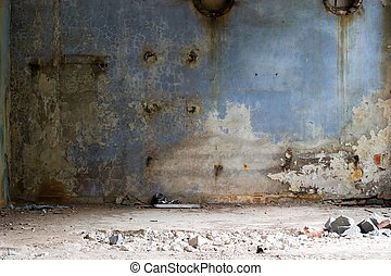 factory - Ruins of a very heavily polluted industrial site,...