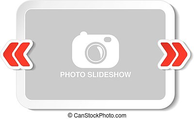 Vector frame for website slideshow, presentation or series...