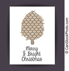 Pinecone decoration for Christmas season - pinecone inside...