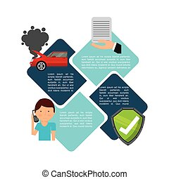 car insurance business icon vector illustration design