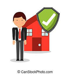 home insurance property concept icon vector illustration...