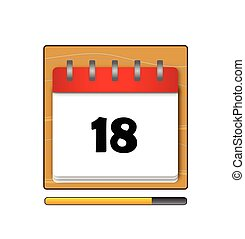 The Eighteen days in a calendar vector