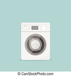 Cartoon washing machine vector image