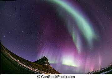 Aurora borealis Iceland - The Northern Light Aurora borealis...