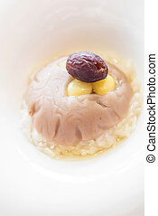 hot sticky rice and taro - Chinese dessert, Chinese hot...