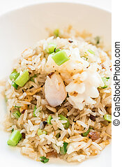 seafood fried rice - Chinese seafood fried rice with...