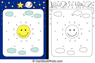 Preschool worksheet for practicing fine motor skills and...