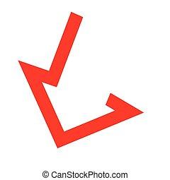 Moving down arrow - Arrow icon design concept. AI 10...