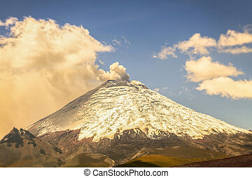 Cotopaxi Volcano Day Eruption, Ecuador, South America