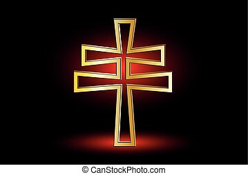 double religious cross