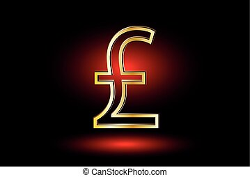 Pound symbol, Pound symbol icon on red background