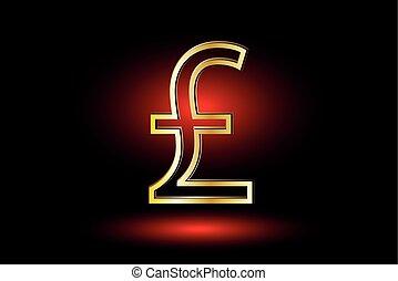 Pound symbol, Pound symbol icon on red background
