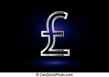 Pound symbol, Pound symbol icon on purple background