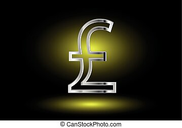 Pound symbol, Pound symbol icon on yellow background