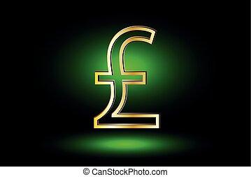 Pound symbol, Pound symbol icon on green background